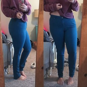Style & Co Teal Skinny Jeans